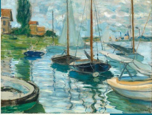 Claude Monet Sailboats on the Seine 1000 PC Jigsaw Puzzle