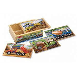 Construction Vehicles 4 x 12 PC Wooden Jigsaw