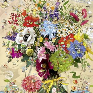 Degano - Flower's Life 1000 pc Heye Jigsaw Puzzle