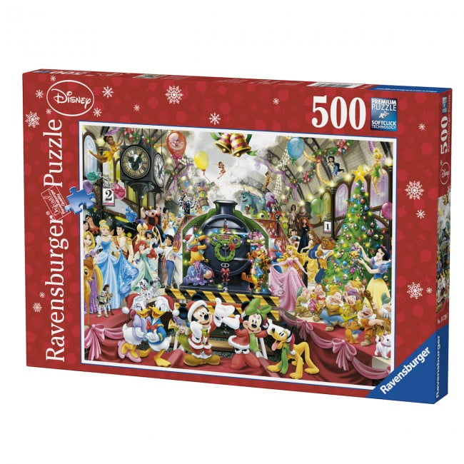 disney christmas train 500 pc jigsaw puzzle - Disney Christmas Train