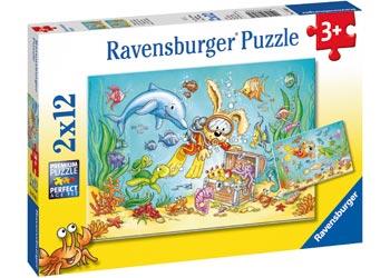 Diving Adventure 2 x 12 PC Ravensburger Jigsaw Puzzle