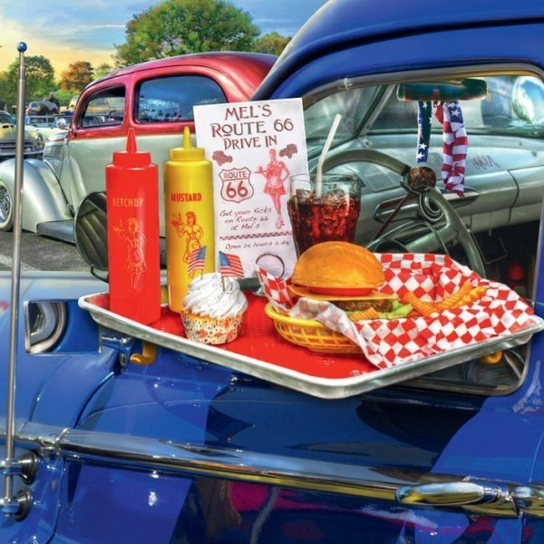 Drive Through Route 66 – 500 PC Large Format Jigsaw Puzzle