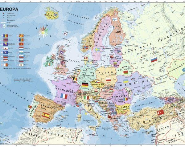 European Map 200 PC Jigsaw Puzzle