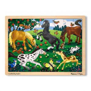 Frolicking Horses 48 PC Jigsaw Puzzle