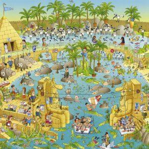 Funky Zoo Nile Habitat 1000 PC Heye Jigsaw Puzzle