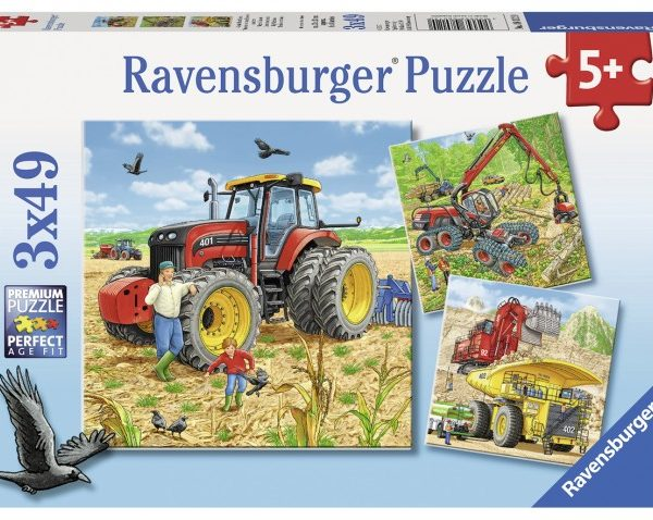 Giant Vehicles 3 x 49 PC Jigsaw Puzzle