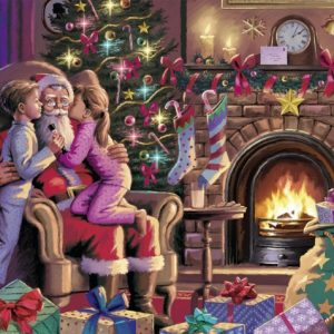 Kissing Santa 300 PC Jigsaw Puzzle