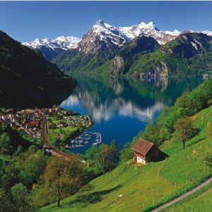 Lake Lucerne Switzerland 1500 PC Anatolian Jigsaw Puzzle