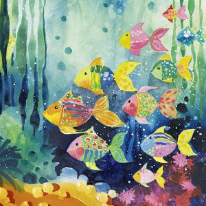 Lovely Times - Shoal of Fish 1000 PC Jigsaw Puzzle