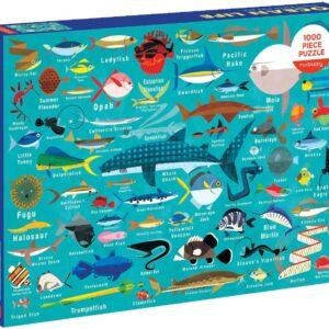Ocean Life 1000 Piece Puzzle - Mudpuppy