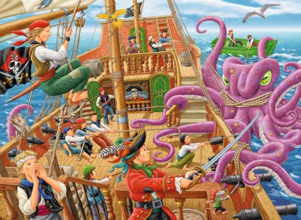 Pirate Boat Adventure 100 PC Jigsaw Puzzle