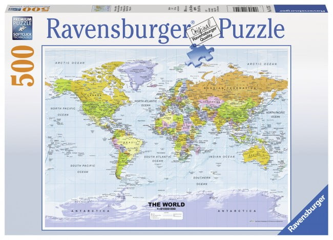 Ravensburger jigsaw puzzle political world map 500 piece political world map 500 pc jigsaw puzzle gumiabroncs Gallery