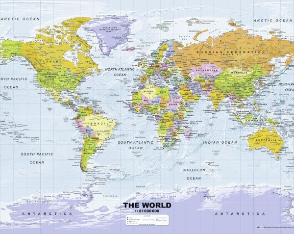 Ravensburger jigsaw puzzle political world map 500 piece political world map 500 pc jigsaw puzzle gumiabroncs Images