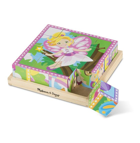 Princess & Fairies 16 PC Cube Puzzle