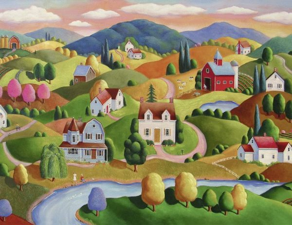 Rolling Hills 300 PC Large Format Jigsaw Puzzle