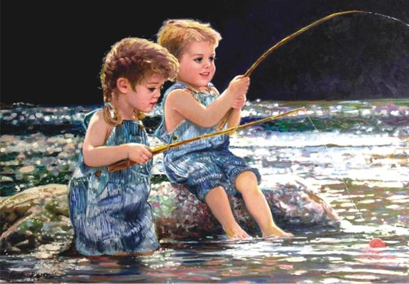 Taking the Bait 260 PC Jigsaw Puzzle