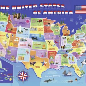 USA State Map 100 PC Jigsaw Puzzle