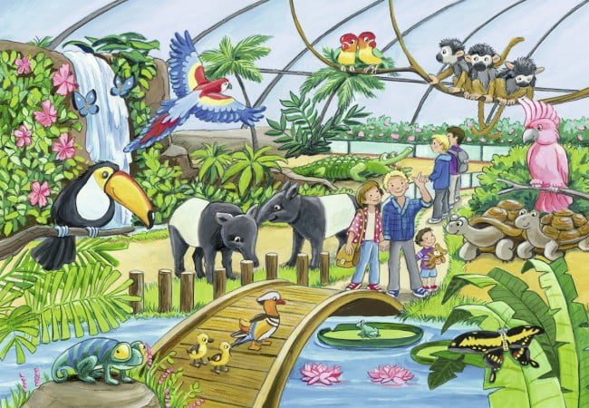 Welcome to the Zoo 2 x 24 PC Jigsaw Puzzle