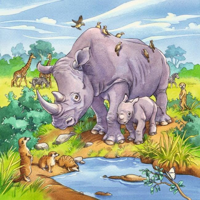 Ravensburger Children's Jigsaw Puzzle - Wild Animals 3 x ...