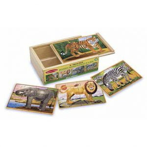 Wild Animals 4 x 12 PC Wooden Jigsaw Puzzle