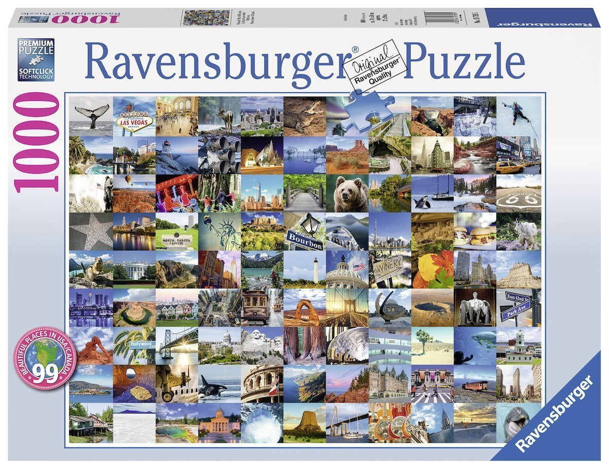 1000 Pc Jigsaw Puzzle 99 Beautiful Places 2 Usa Canada