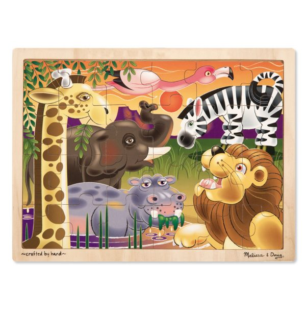 African Plains 24 PC Wooden Jigsaw Puzzle