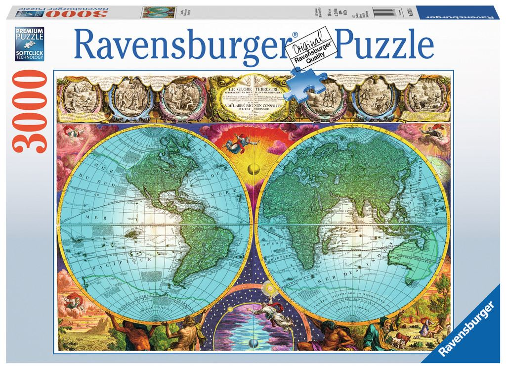 Antique World Map 3000 Pc Ravensburger Jigsaw Puzzle