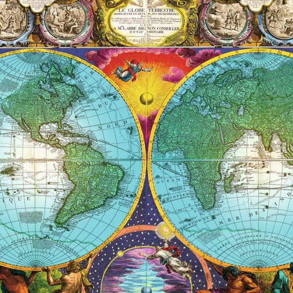 Antique world map 3000 pc ravensburger jigsaw puzzle antique map 3000 pc jigsaw puzzle gumiabroncs Images