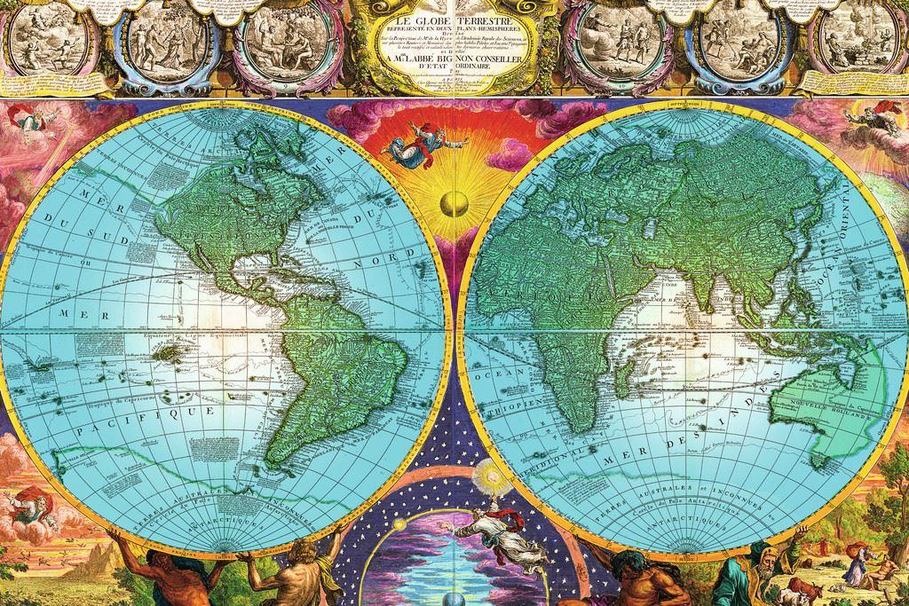 Antique World Map Puzzle.Antique World Map 3000 Pc Ravensburger Jigsaw Puzzle