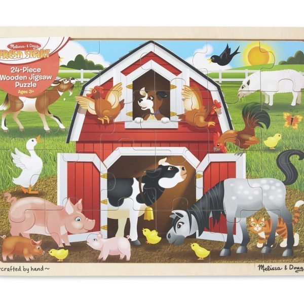 Barnyard 24 PC Wooden Jigsaw Puzzle