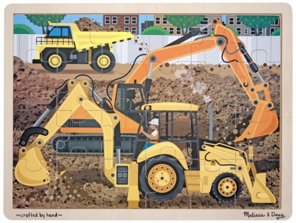 Diggers at Work 24 PC Wooden Jigsaw Puzzle