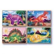 Dinosaur 4 x 12 PC Wooden Jigsaw Puzzle
