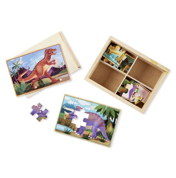 Dinosaurs Mdf Toy Box Childrens Storage Toys Games Books: Jigsaw Puzzle By Melissa & Doug