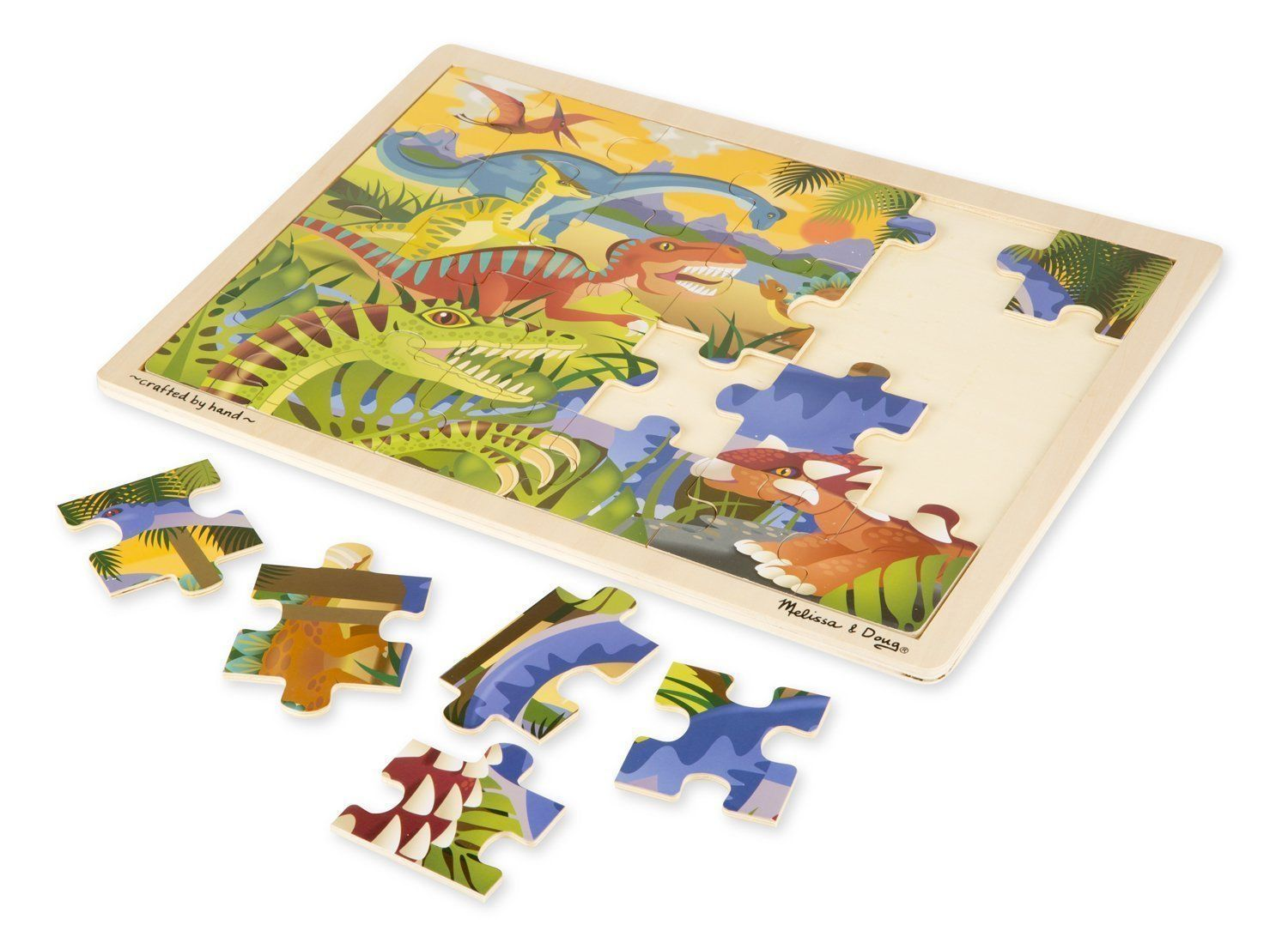 Dinosaurs 24 PC Melissa & Doug Wooden Jigsaw Puzzle