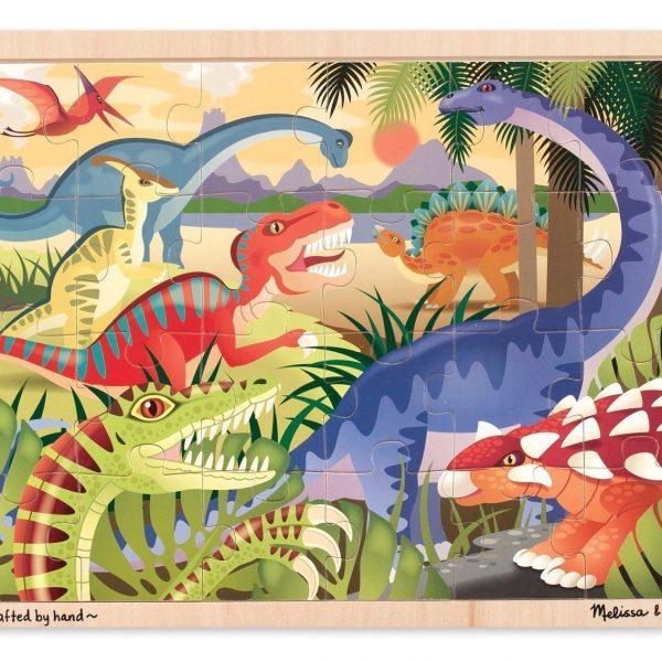 Dinosaurs 24 PC Melissa & Doug Wooden Jigsaw Puzzle