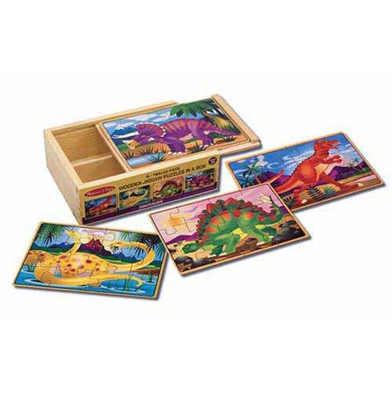 Dinosaurs 4 x 12 PC Jigsaw Puzzle