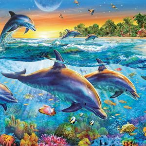 Dolphin Cove 500 PC Jigsaw Puzzle