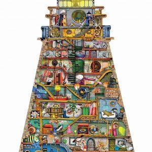 Ludicrous Lighthouse Silhouette Jigsaw Puzzl