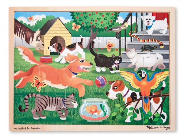Pets at Play 24 PC Wooden Jigsaw Puzzle