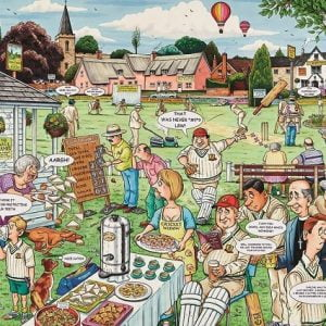The Cricket Match 1000 PC Jigsaw Puzzle