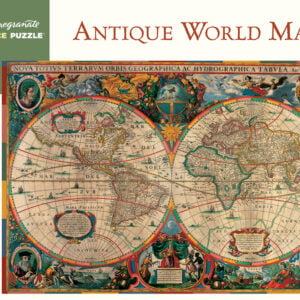Antique World Map 1000 Piece Jigsaw Puzzle - Pomegranate