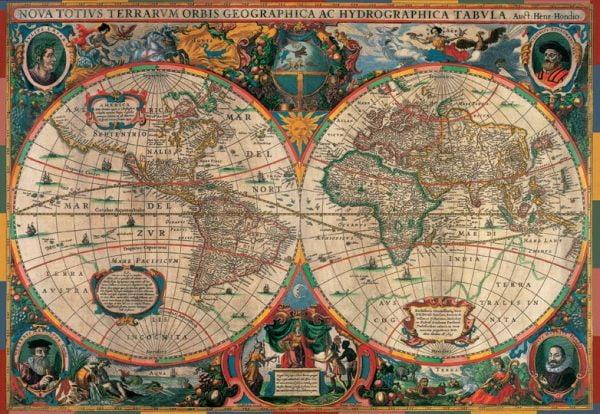 Antique World Map 1000 Piece Jigsaw Puzzle