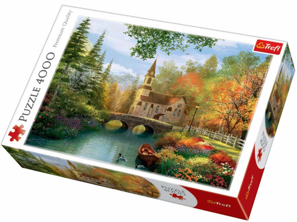 autumn nostalgia 4000 piece trefl jigsaw puzzle. Black Bedroom Furniture Sets. Home Design Ideas