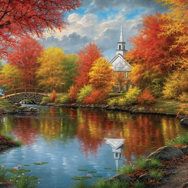 Autumn Tranquility 1000+ Large Piece Jigsaw Puzzle