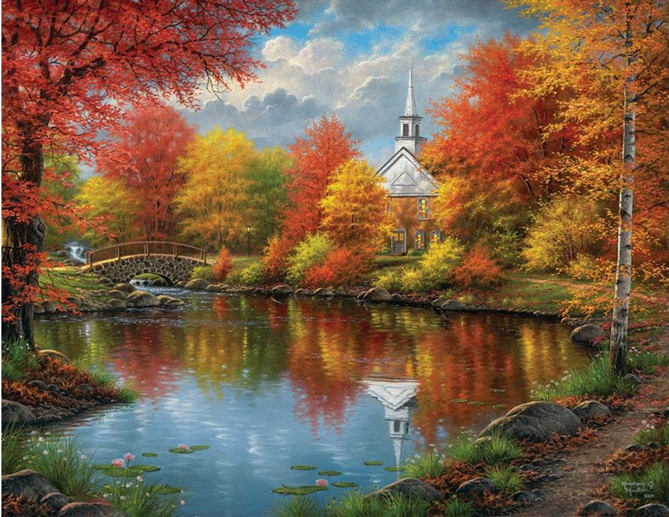 Autumn Tranquility 1000 Large Piece Jigsaw Puzzle