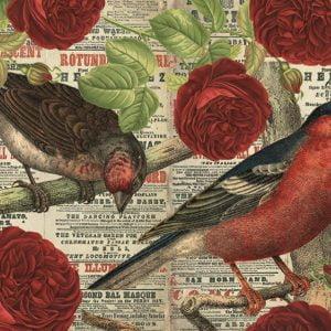 Birds Love Flowers 500 Piece Jumbo Jigsaw Puzzle