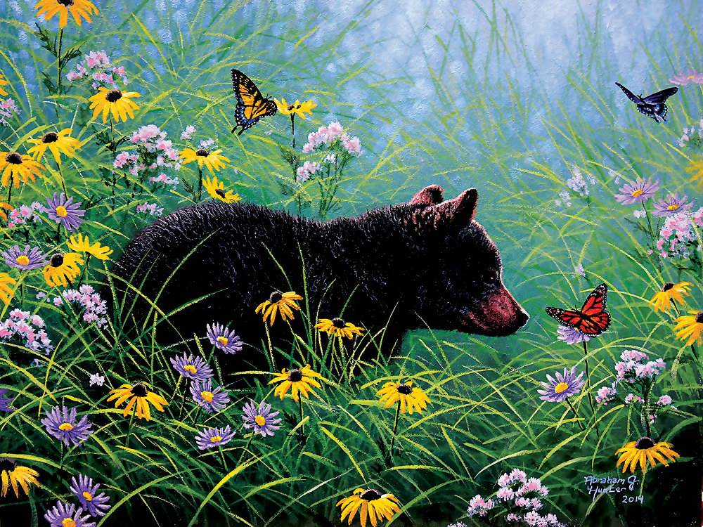 Cars For Sale Sydney >> BLACK BEAR AND BUTTERFLIES 500 PIECE JIGSAW PUZZLE