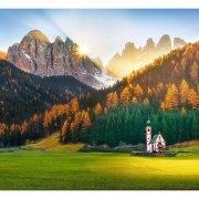 Church in Dolomites 1500 Piece Jigsaw Puzzle