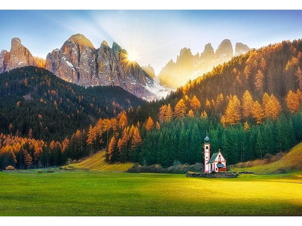 Church in Dolomites 1500 Piece Jigsaw Puzzle