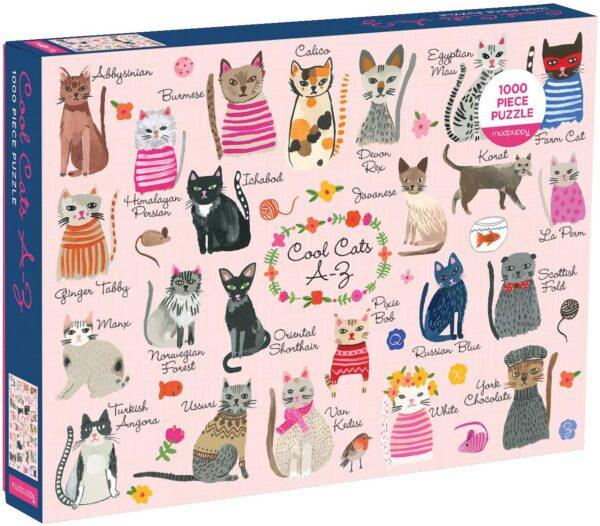 Cool Cats 1000 Piece Jigsaw Puzzle - Mudpuppy